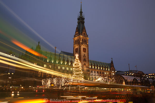 Hall town Hamburg photo Christmas tree advent market nightly lights abstract movement romantic